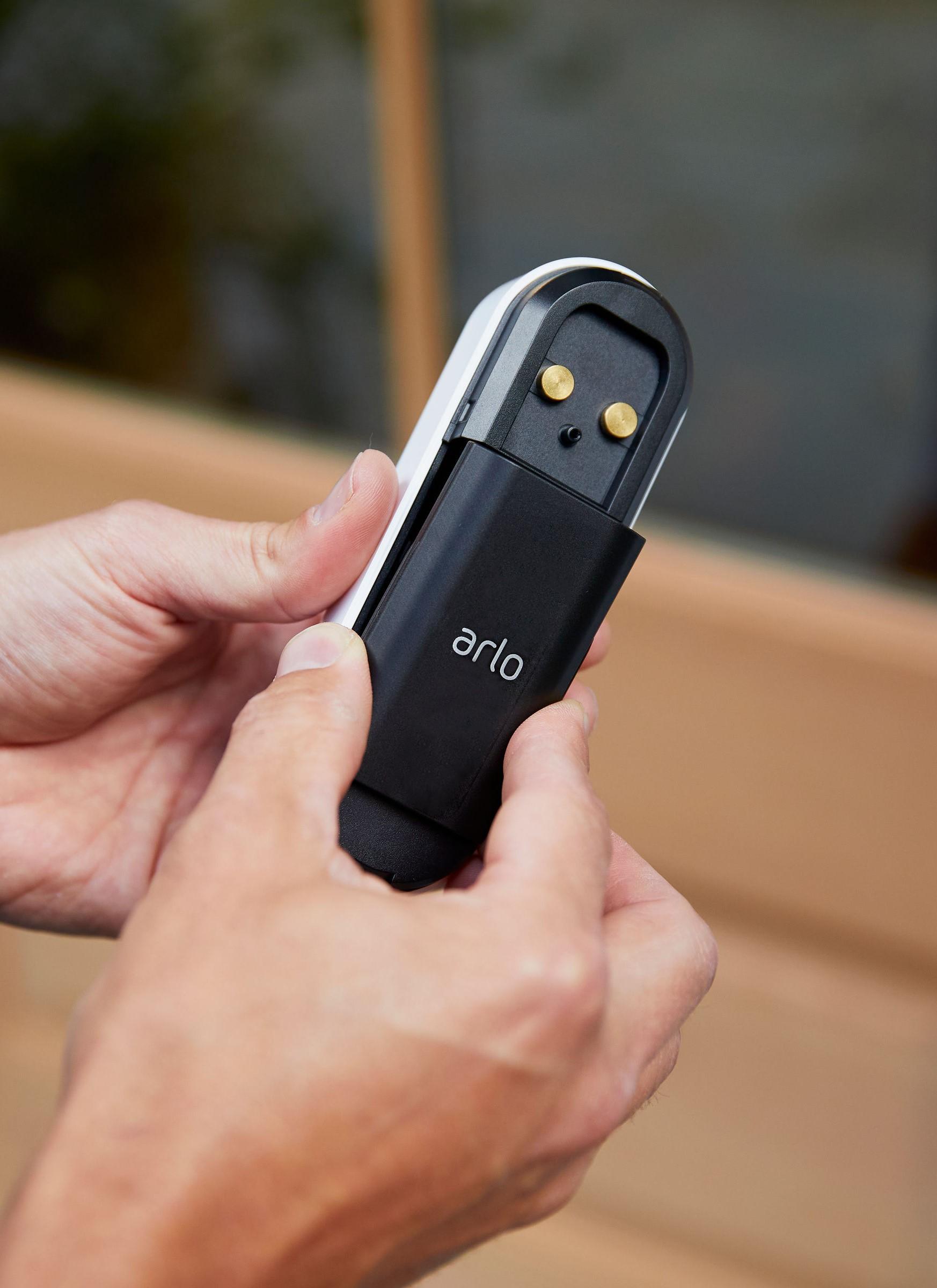 Arlo video doorbell, rear view